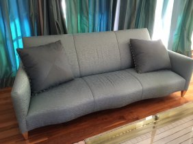 Pair Of Blue Sofas, Donghia
