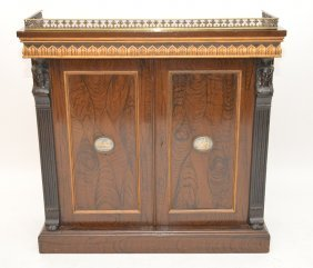Console, Regency Empire Style, Wedgwood Medallions On