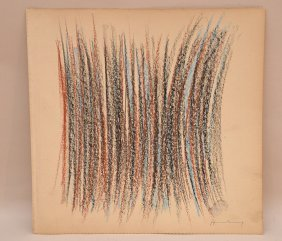 Attributed To Hans Hartung (1904-1989) Pastel On Paper