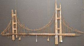 Curtis Jere Metal Golden Gate Bridge Sculpture Signed C