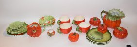 "24 Pieces Royal Bayreuth Bavaria ""tomato"" Porcelain"
