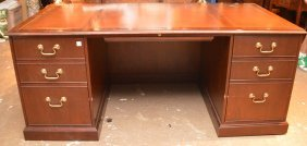 Baker Writing Desk, 3 Leather Insert Sections On
