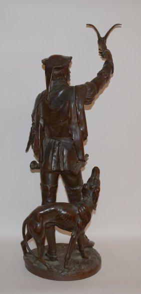 Emile Louis Picault 1833-1915 Bronze Sculpture Of A
