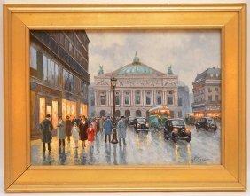 Anton Karssen (dutch, B. 1945), Paris Street Scene, Oil