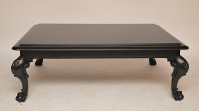 Painted Black Ralph Lauren Coffee Table