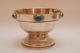 Sterling Silver (tested) Hand Hammered Pedestal Bowl