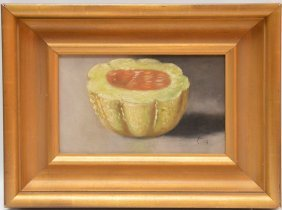 19th Century Mellon Painting , Oil On Canvas, Signed