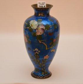 """Japanese Cloisonné Vase, 9""""h"""
