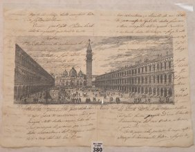 St. Mark€™s Square, Venice, Print On 18th Century