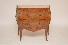 French Bronze Mounted Marble Top Chest