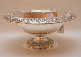 Kirk & Son's Sterling Repousse Pedestal Bowl.