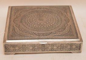 Persian 84 Silver 'vartan' Box. The Box Has Finely
