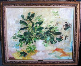 "Le Pho (french 1907-2001) Oil On Board Titled """"les"