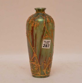 "Art Glass Nouveau Vase, 8""""h"