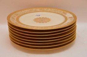 """8 Bavarian Plates, """"""""heinrich & Co."""""""" 11""""""""dia"""