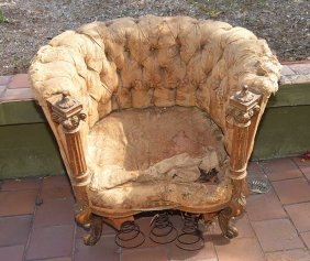 2 Early 18th/19th C. French Gilded Chairs, Very