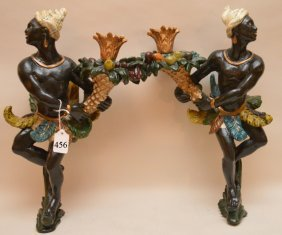 "Pair Of Composition Blackamoors, 19""h"