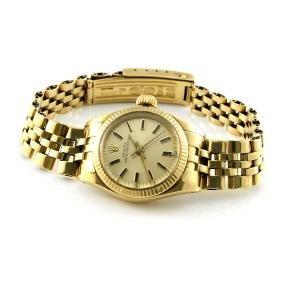 Rolex 14k Yellow Gold Ladies Watch