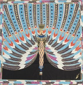 "Art Deco Erte Silk Scarf ""the Nile"""