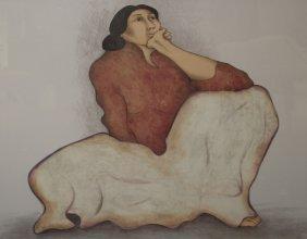 """Large Rudolph Gorman """"rosalie"""" Color Lithograph"""