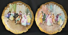 Large Limoges Hand Painted Wall Plaque Dubois