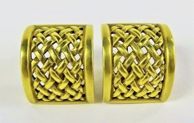 Barry Kieselstein Cord 18kt Yellow Gold Earrings