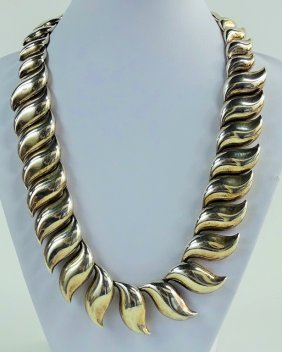 Large Tiffany & Co Elsa Peretti Sterling Necklace