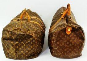 Two Vintage Louis Vuitton Traveling Monogram Bag