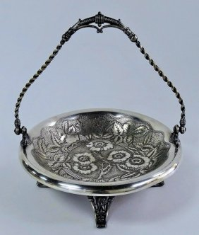 James W. Tufts Quadruple Silver Four Footed Bowl