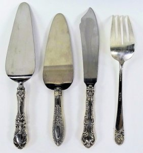 Four Vintage Sterling Silver Serving Pieces