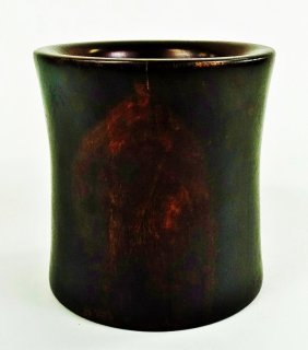 18th Century Cylindrical Zitan Wood Brush Pot