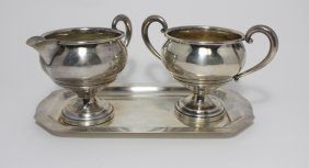 Muek-cary Co. Sterling Silver Creamer Sugar & Tray