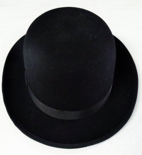 Vintage Black Mens Bowlers Hat New York Hat Co.
