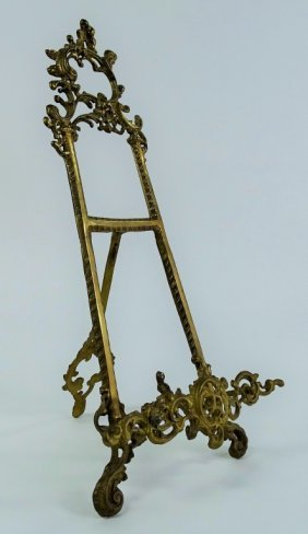 Tall Victorian Style Brass Easel
