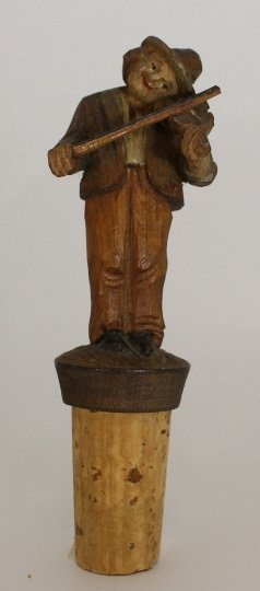 Vintage Hand Carved Wooden Cork Stopper
