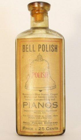 Vintage Bell Polish Bottle