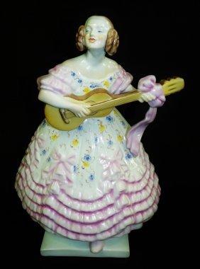 """Huge Vintage Herend Porcelain Of """"dary Ne Lady"""""""