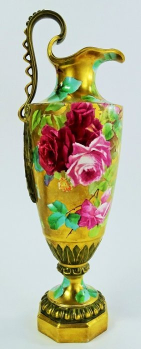 Late 19th Century Hand Painted Porcelainewer