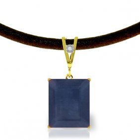 Genuine 7.01 Ctw Sapphire & Diamond Necklace Jewelry
