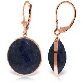 Genuine 46 Ctw Sapphire Earrings Jewelry 14kt Rose Gold