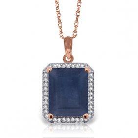 Genuine 6.6 Ctw Sapphire & Diamond Necklace Jewelry