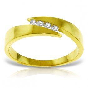 Genuine 0.12 Ctw Diamond Anniversary Ring Jewelry 14kt