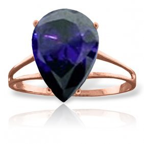 Genuine 4.65 Ctw Sapphire Ring Jewelry 14kt Rose Gold -