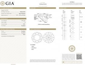 1.79ct H/vvs1 Brilliant Round Cut Gia Certified Diamond