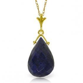 Genuine 7.8 Ctw Sapphire Necklace Jewelry 14kt Yellow