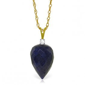 Genuine 12.95 Ctw Sapphire & Diamond Necklace Jewelry