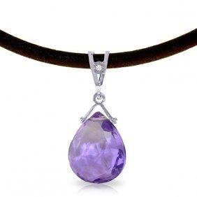 Genuine 6.51 Ctw Amethyst & Diamond Necklace Jewelry
