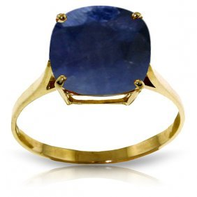 Genuine 4.83 Ctw Sapphire Ring Jewelry 14kt Yellow Gold