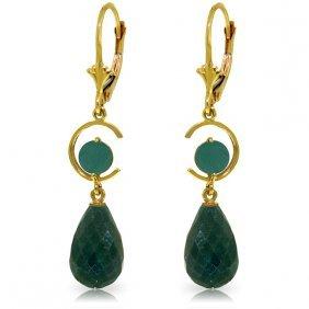Genuine 18.6 Ctw Green Sapphire Corundum & Emerald