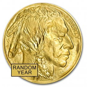 One Pc. 1 Oz .9999 Fine Gold Buffalo Random Year